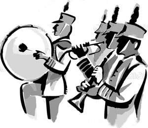 Band clipart marching band. Palo verde high school