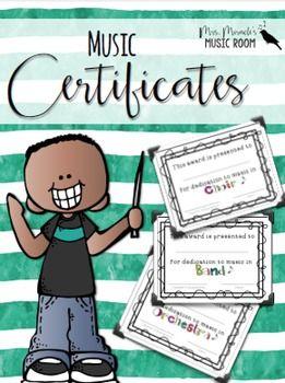 Band clipart music classroom. Certificates editable choir certificate