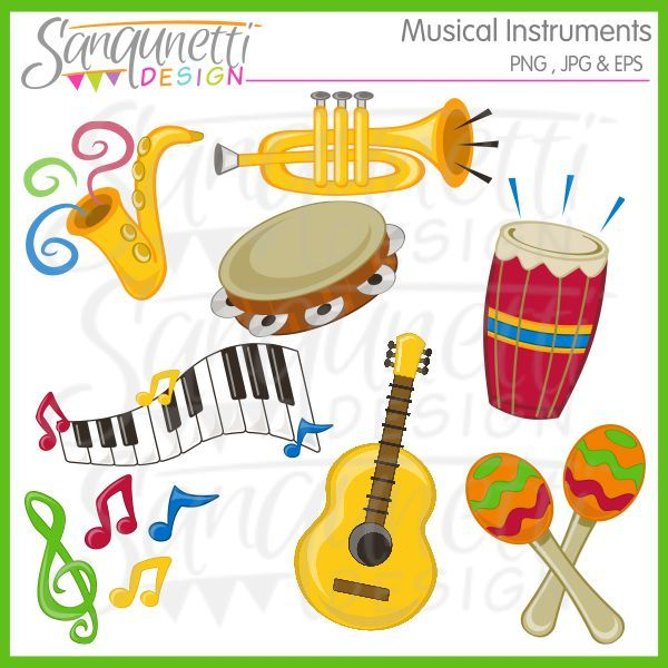 best musical instruments. Band clipart music classroom