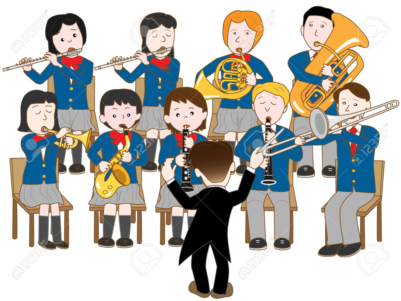 Band clipart music education. School free download best