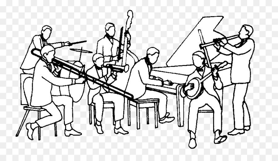 Band clipart music ensemble. Jazz musical big clip