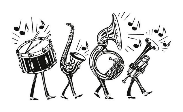 Band clipart music student. Do colleges give scholarships