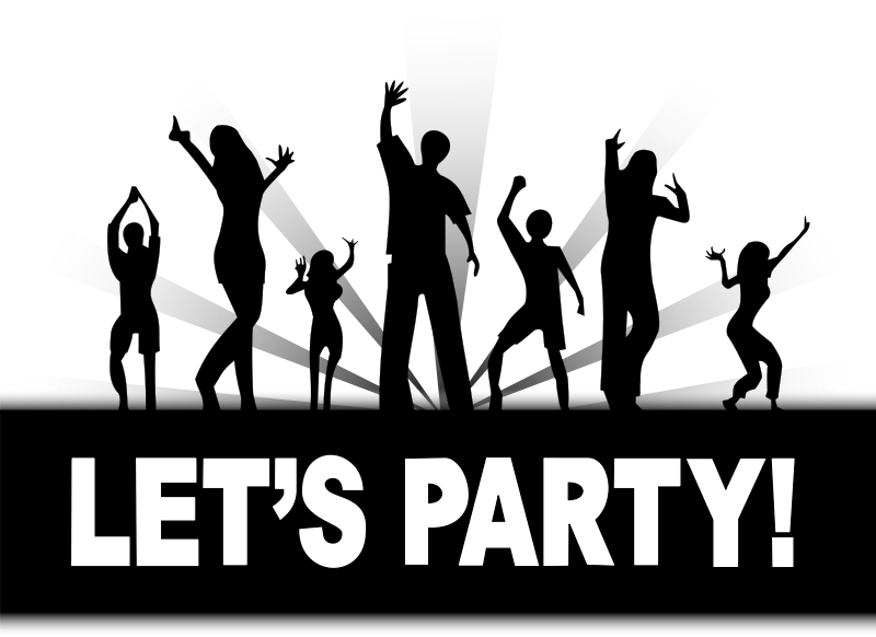 Free party graphics of. Night clipart all