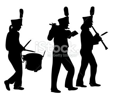 Marching silhouette free clip. Band clipart pep band