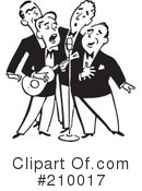 Band clipart retro. Music illustration by bestvector