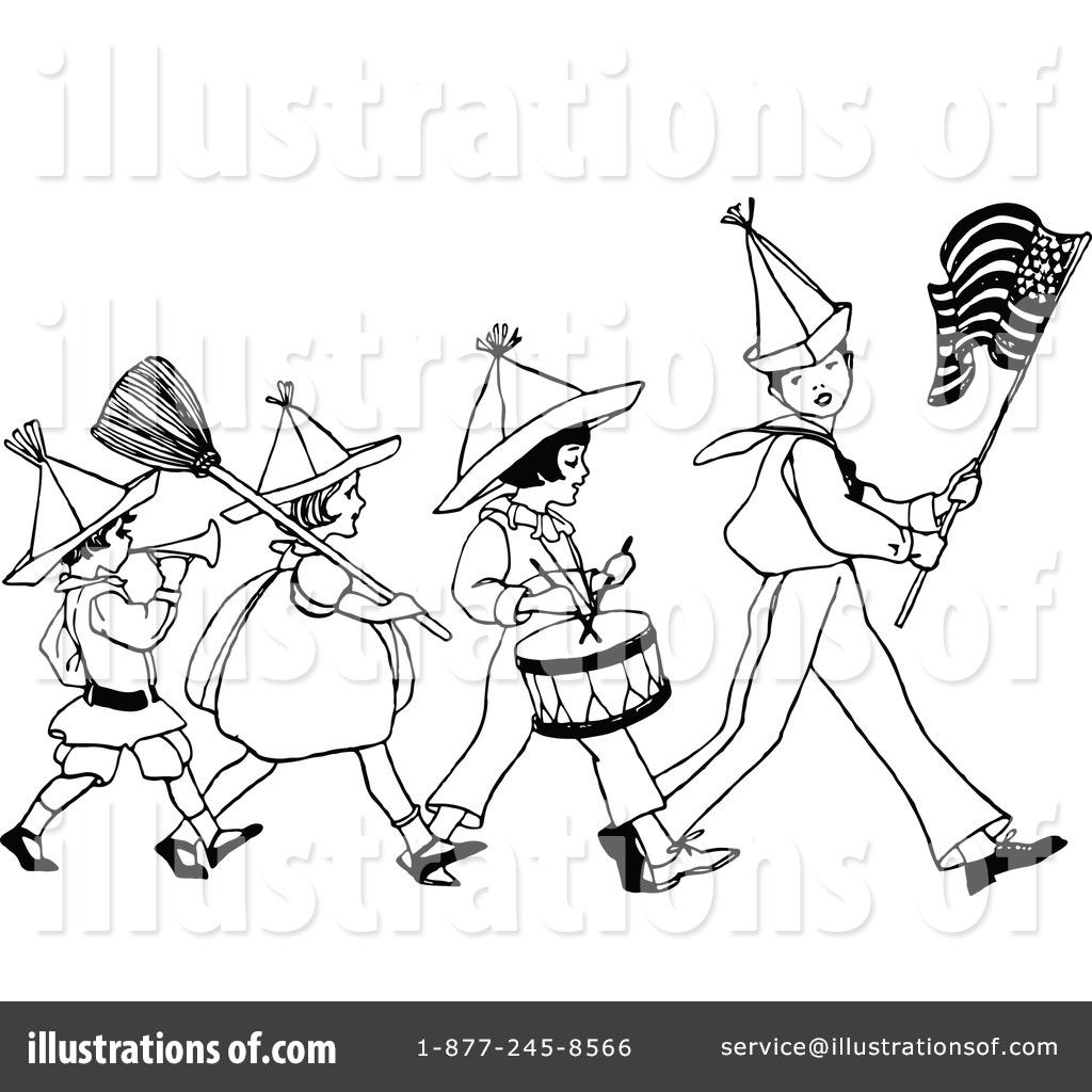 Band clipart retro. Marching drawing at getdrawings
