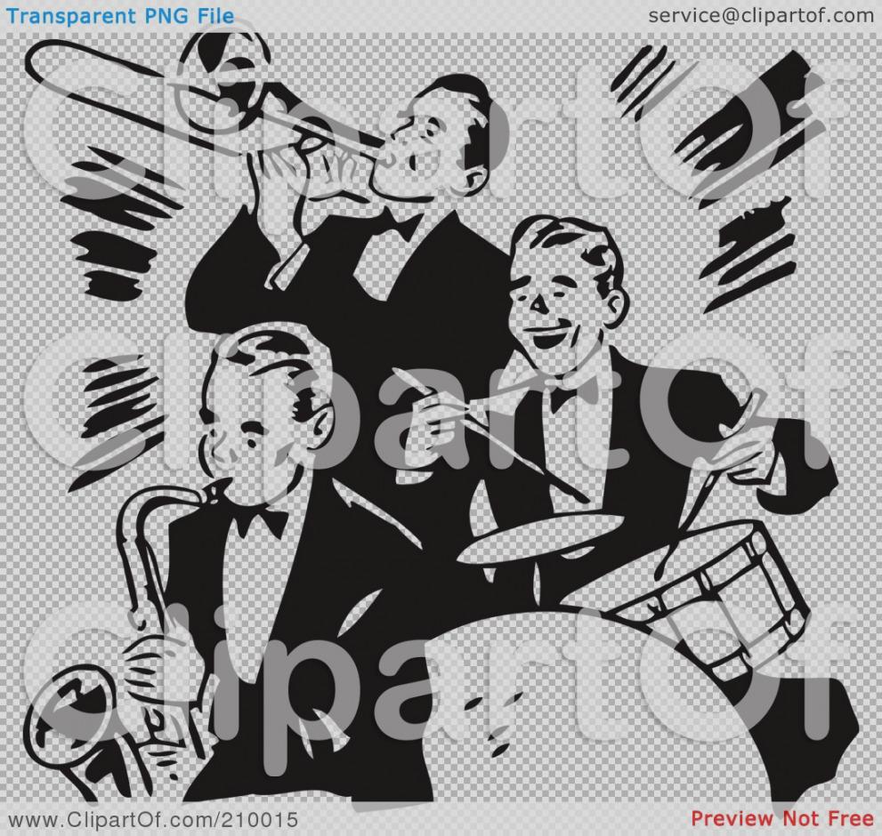 New clip art free. Band clipart retro