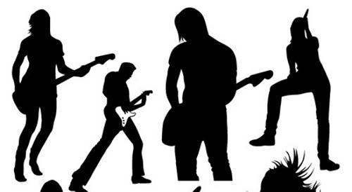 Rock clip art co. Musician clipart pop band