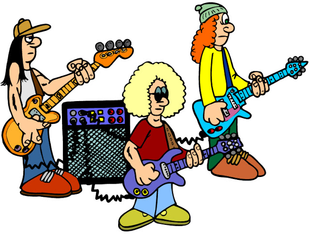 Image of rock clip. Jazz clipart pop band