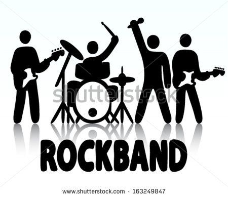 Band clipart rock band. Kids google search or
