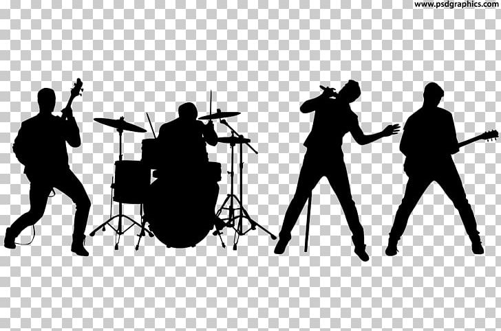 Band clipart rock band. Silhouette musical ensemble png
