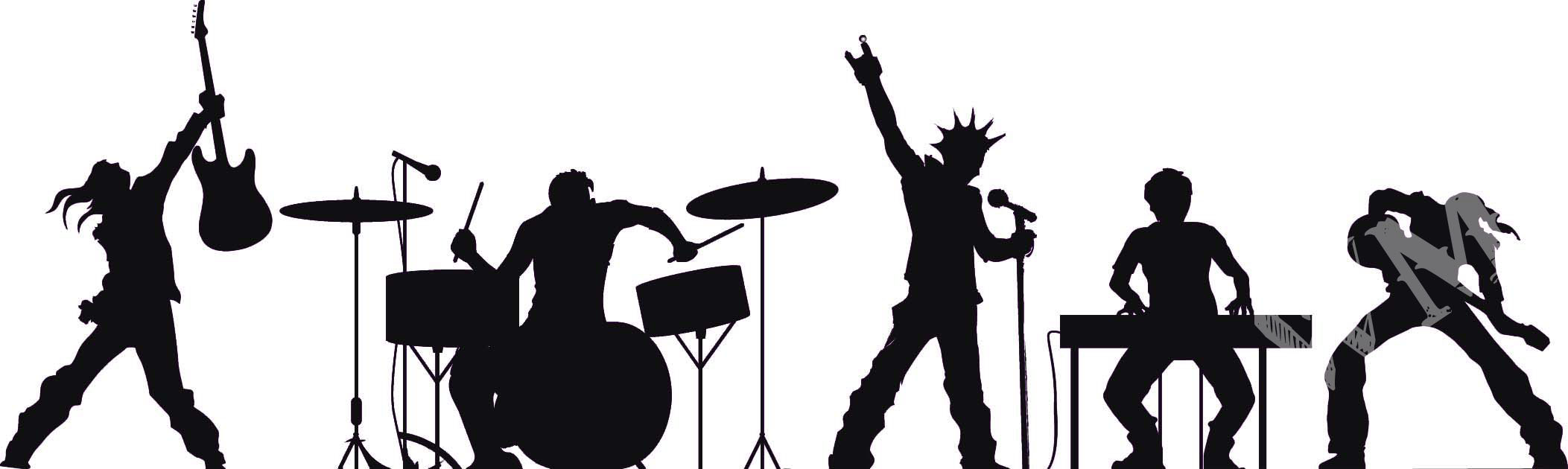 Band clipart silhouette. Free cliparts download clip