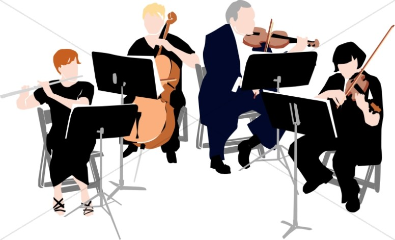 Musical clipart musician. Orchestra free download best
