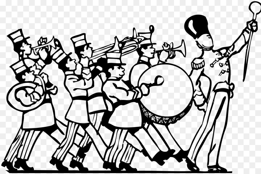 Band clipart transparent. Marching musical ensemble camp
