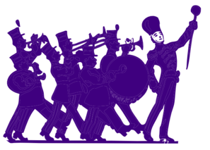 Marching purple on white. Band clipart transparent