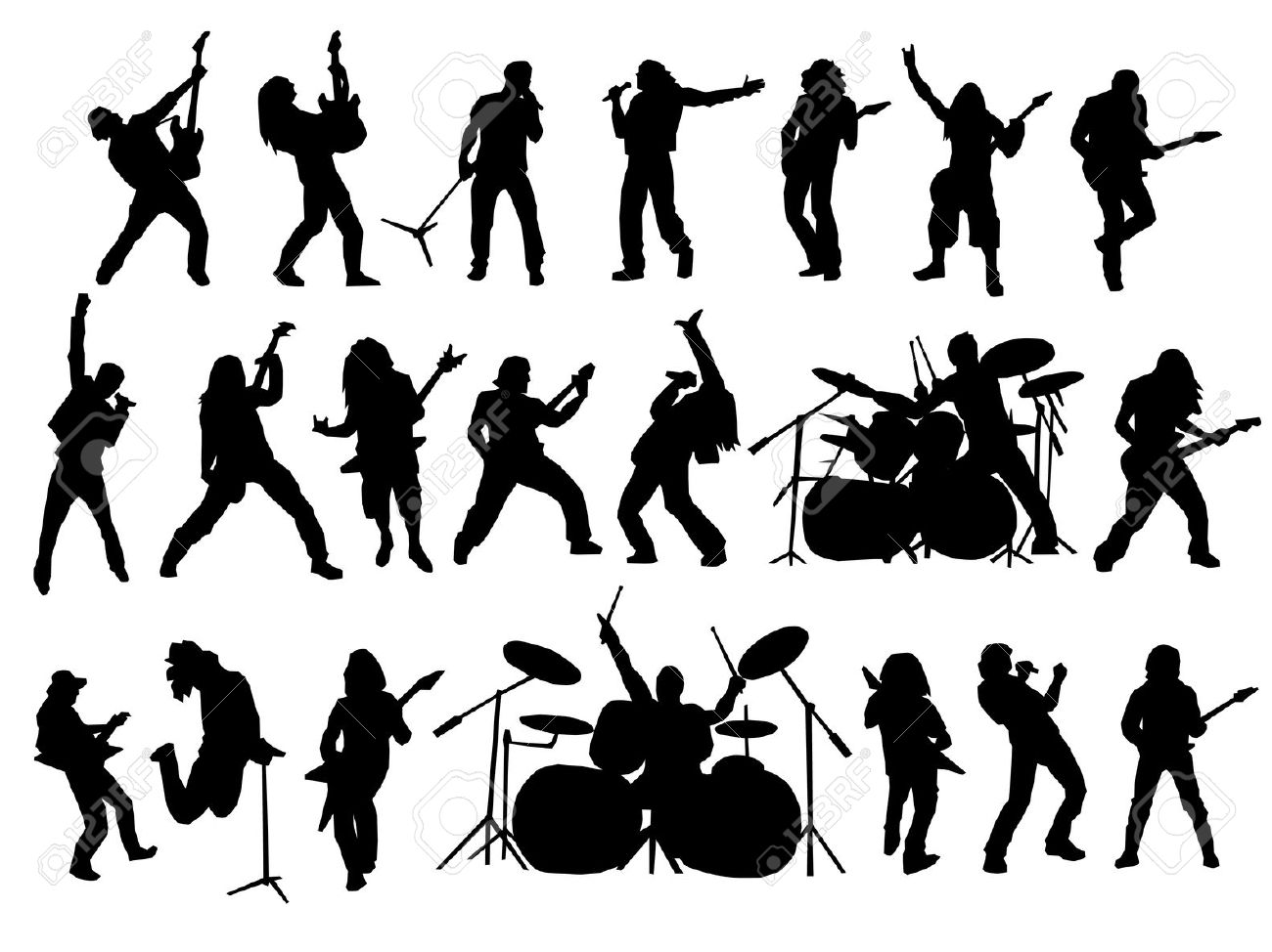 Free marching silhouette download. Band clipart vector