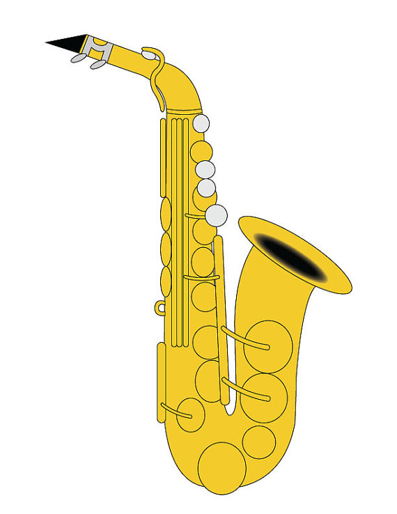 Saxophone clip art alto. Jazz clipart pop band