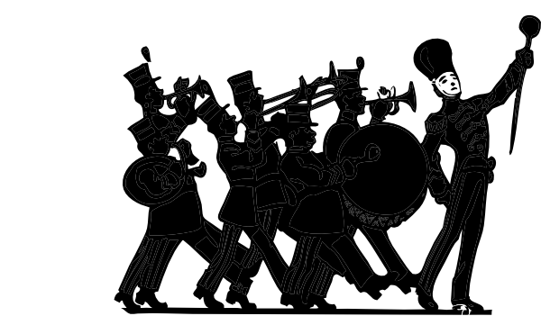 Band clipart vector. Marching silhouette at getdrawings