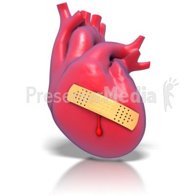 Human heart band aid. Bandaid clipart animated