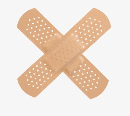 Brown band aid cross. Bandaid clipart bandage
