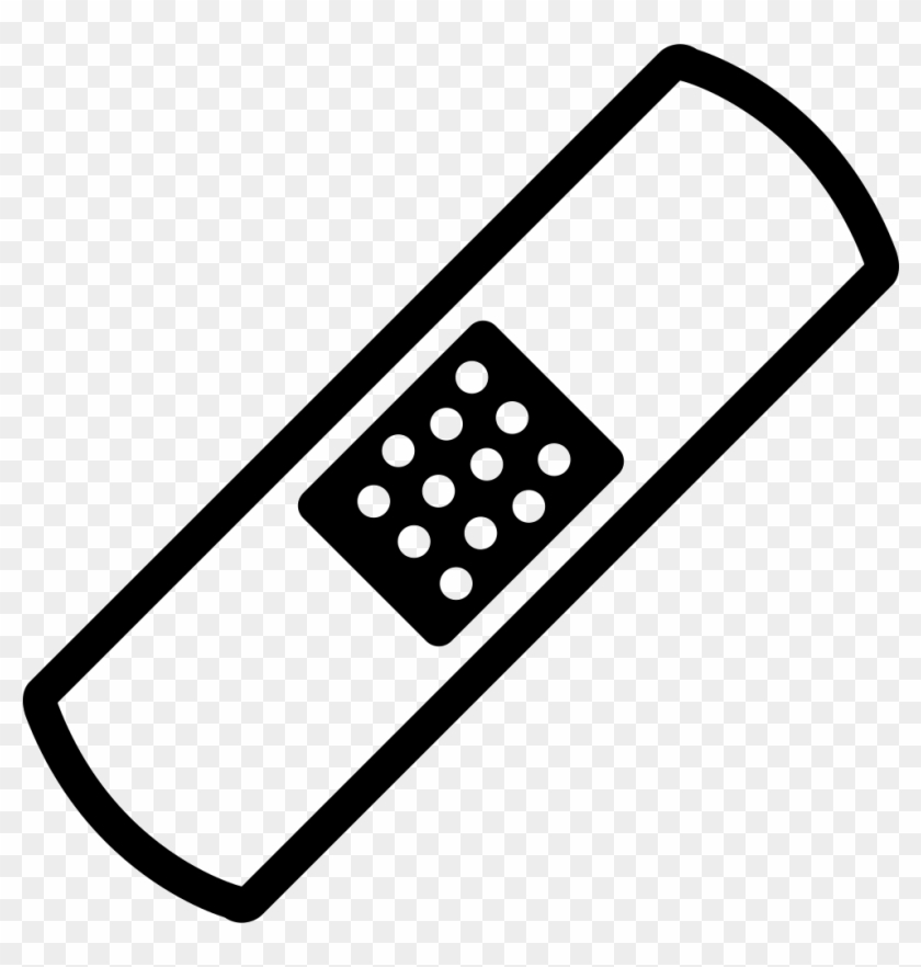 Bandaid clipart black and white. Band aid outline variant