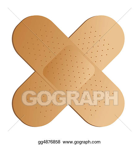Band aid stock illustration. Bandaid clipart cross