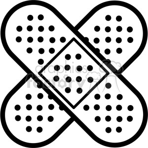 Band aids outline royalty. Bandaid clipart cross