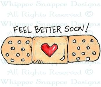 Rubber stamps shop cards. Bandaid clipart get well