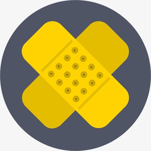 Bandaid clipart icon. Wound paste round bandage