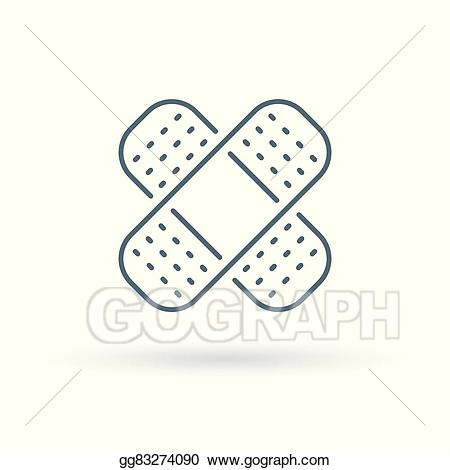Eps vector on white. Bandaid clipart icon
