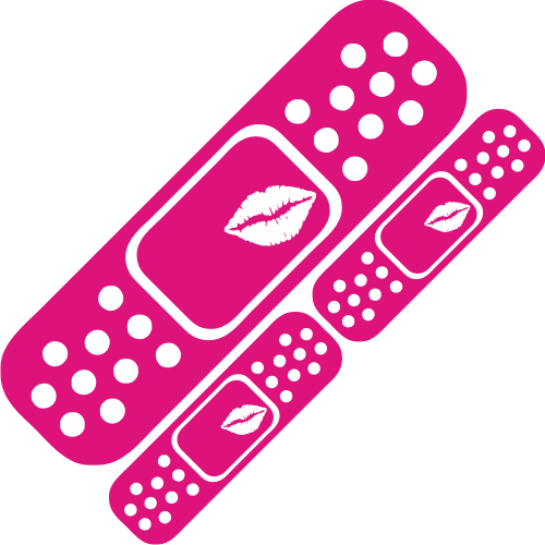 Lips band aid pack. Bandaid clipart pink