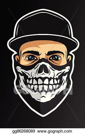 Eps illustration a guy. Cap clipart face