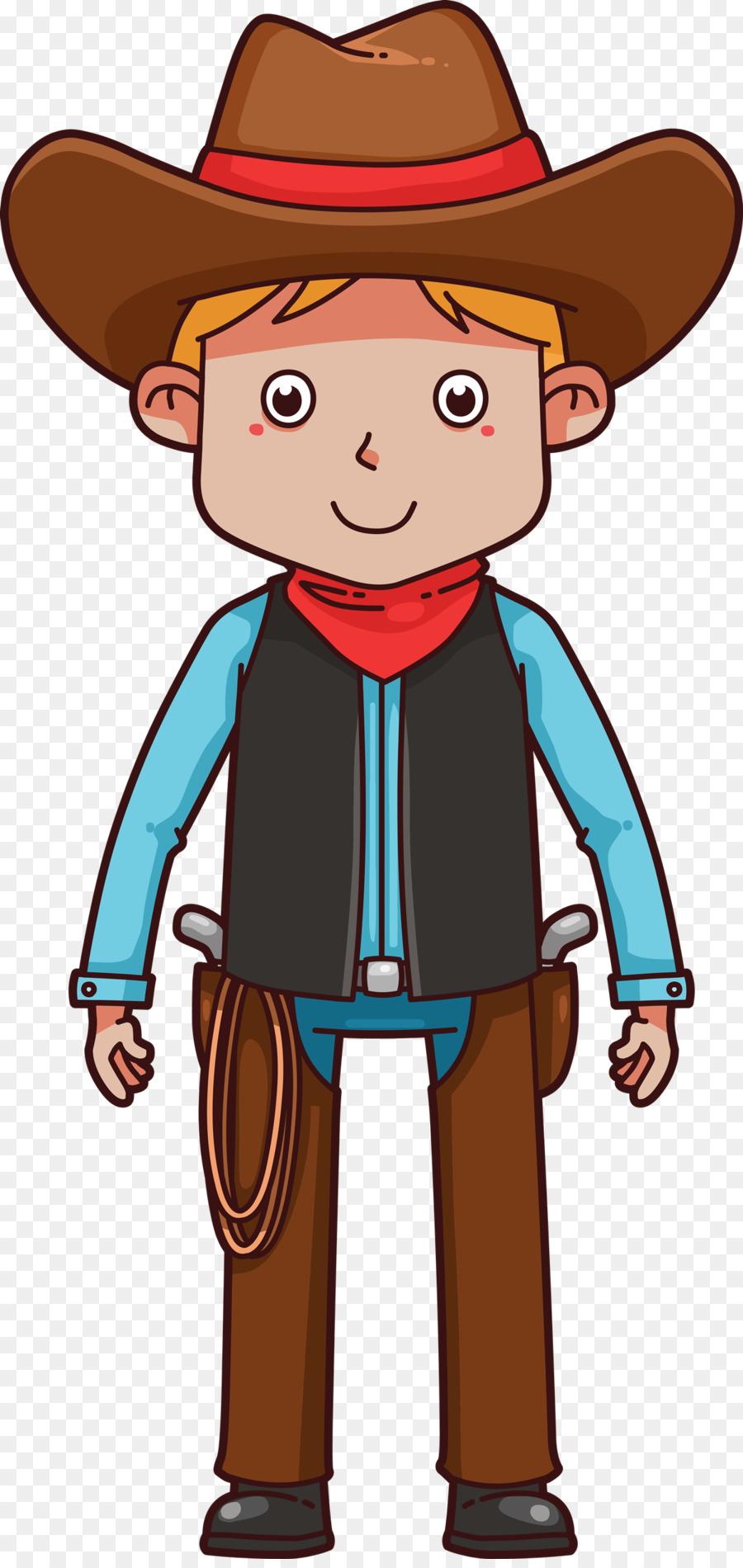 American frontier cartoon western. Boy clipart cowboy