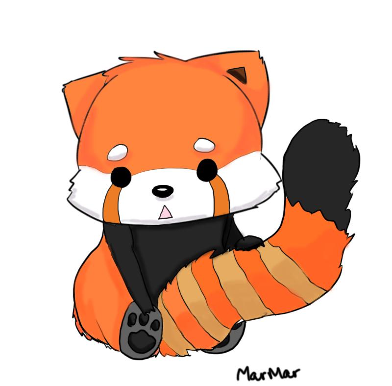 Red pandas cartoon free. Bandana clipart animated