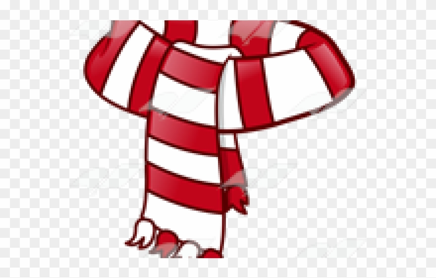Bandana clipart animated. Red and white scarf