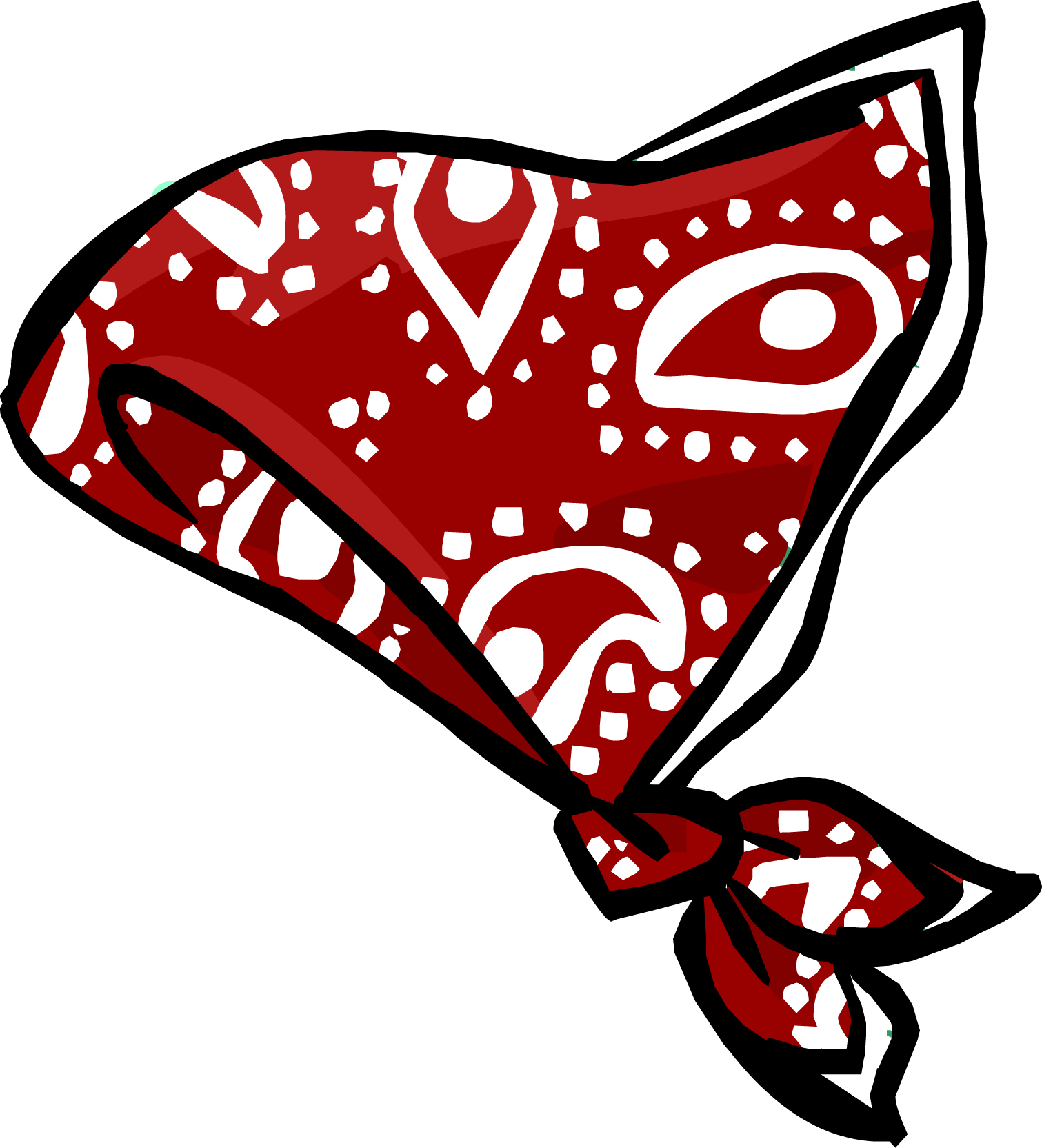 Swimsuit clipart red. Paisley bandanna club penguin