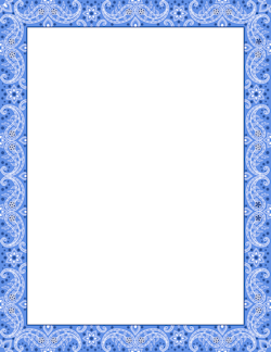 Bandana clipart banner. Blue border page borders