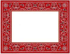Printable red border use. Bandana clipart banner