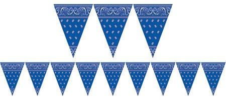 Western theme party supplies. Bandana clipart blue bandana