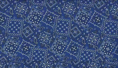 Navy fabric percent cotton. Bandana clipart blue bandana