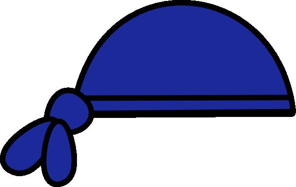 Bandana clipart blue bandana. Clip art at clker