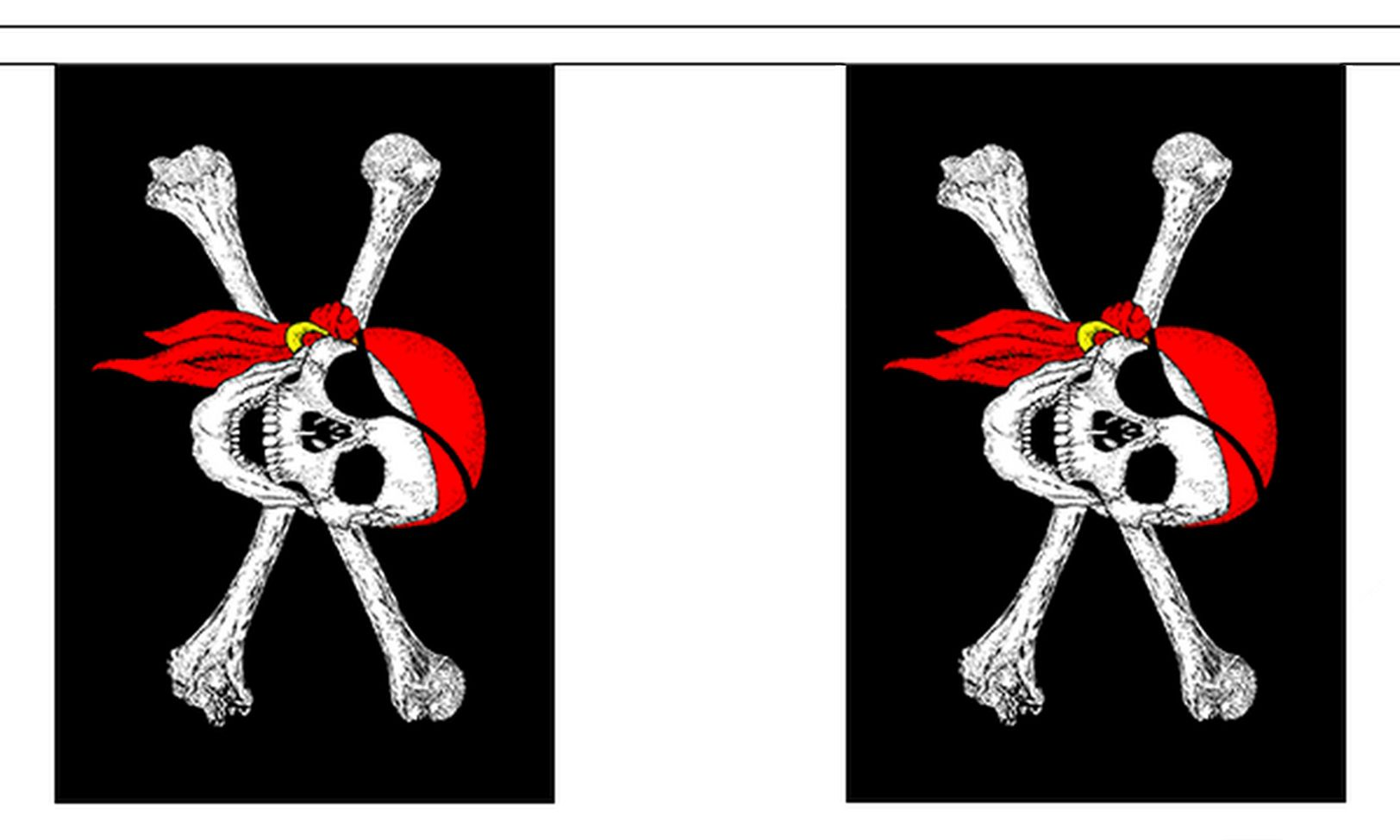 Bandana clipart bunting. Pirate with metres flags