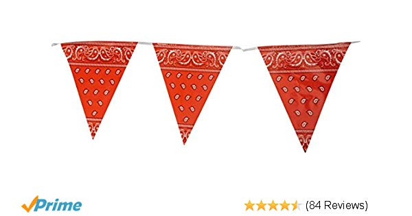 Bandana clipart bunting. Amazon com pennant banner