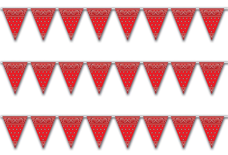 Amazon com pennant banner. Bandana clipart bunting