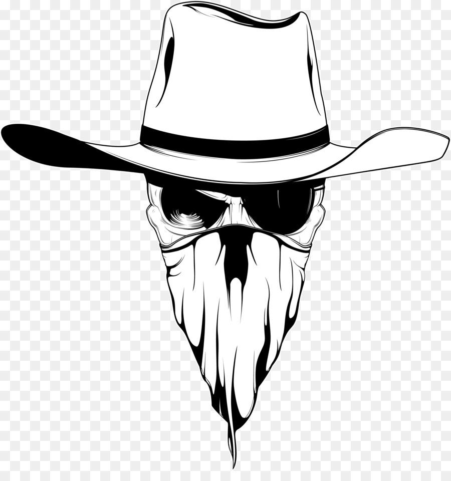 Bandana clipart cowboy hat. Drawing png download free