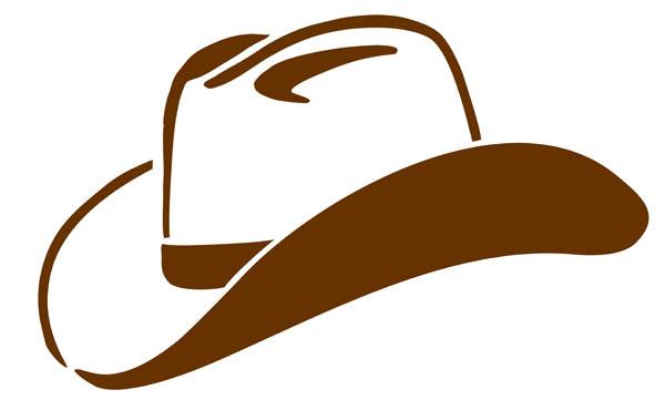 Hat clip art black. Cowboy clipart round cap