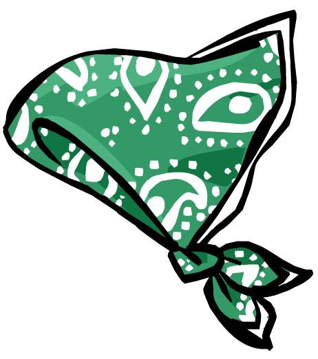 Bandana clipart green bandana. Image paisley clothing icon