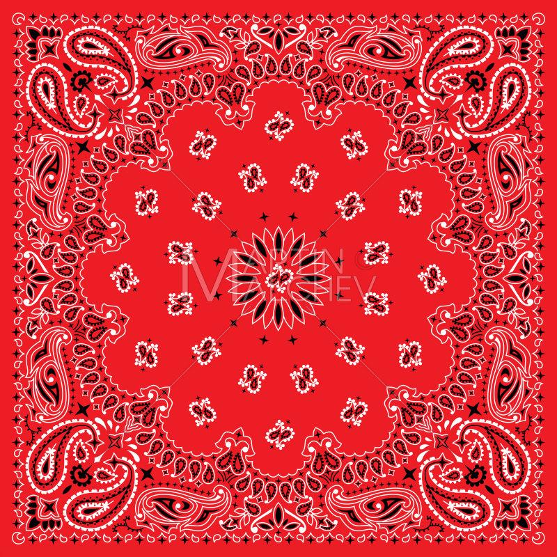 Colorful vector illustration bandanna. Bandana clipart hankerchief