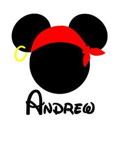 Bandana clipart mickey pirate. Mouse vector logo free