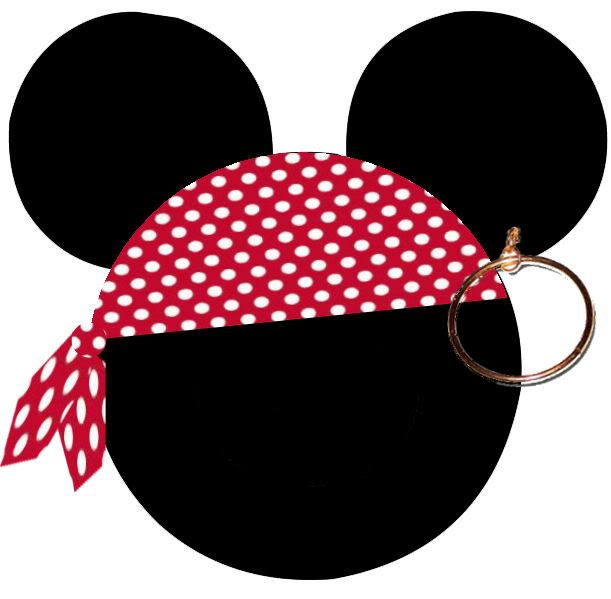 Head with for t. Bandana clipart mickey pirate